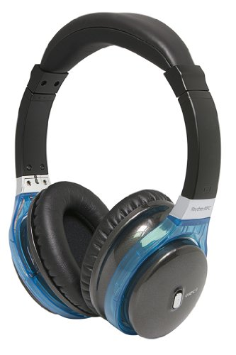 Miikey Wireless Rhythm NFC Hi-Def Stereo Bluetooth Headphones for iPhone, Android, Samsung - Retail Packaging - Black MIIKEY Bluetooth Headsets autotags B00EDSLH1Q