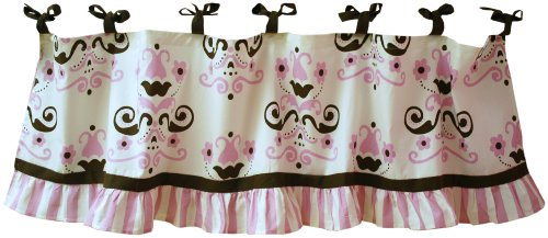 My Baby Sam Baby Love Curtain Valance, Pink (Discontinued by Manufacturer)