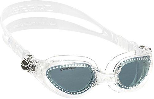 Cressi Right Occhialini da nuoto Anti Fog, Anti UV, Antigraffio, Clear/Lenti Fumè