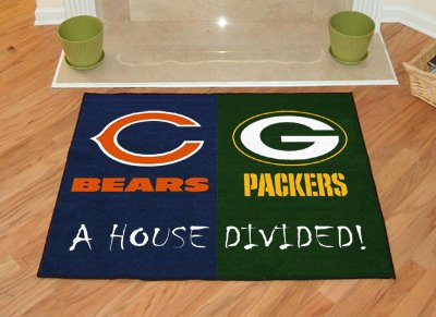 "Chicago Bears 34""x44.5"" House Divided Floor Mat (Rug)"