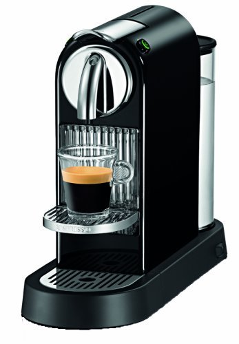 Nespresso D110 CitiZ Automatic Single Server Espresso Maker, 60's Black