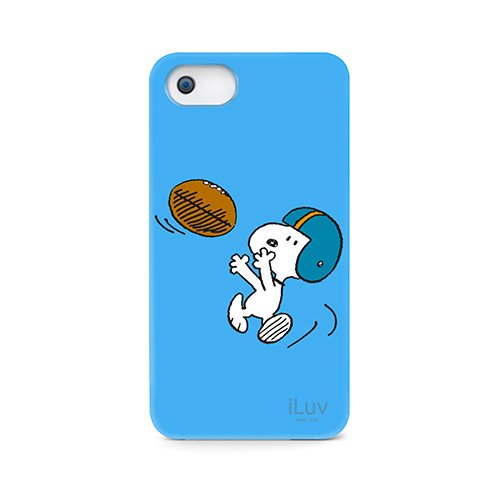 iLuv ICA7H383BLU Snoopy Sports Series Hardshell Case for Apple iPhone 5 and iPhone 5S - 1 Pack - Retail Packaging - Blue