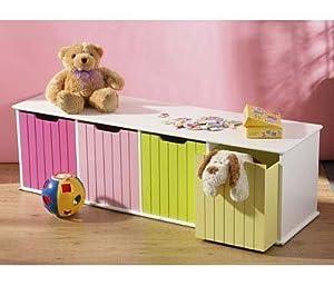childrens toy box storage units 4 coloured drawers kitchen home. Black Bedroom Furniture Sets. Home Design Ideas