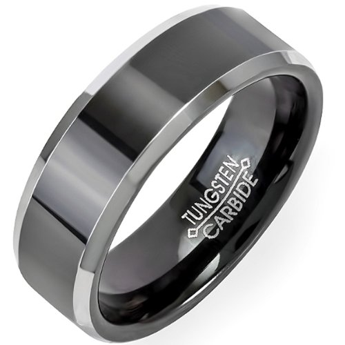 Mens Wedding Band Two Tone
