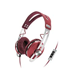 Sennheiser Momentum On-Ear Headphone With Smart Remote With Mic-Red
