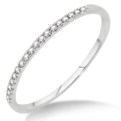 Miore MP9011RM 9 ct White Gold Diamond Eternity Ring