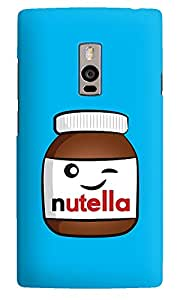 The Fappy Store nutella Designer Printed Back CoverCase One Plus 2