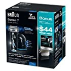 Braun Series 7-760cc Mens Shaving System Gift Set - Includes Bonus Braun Series 7 Replacement Shaver Head