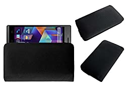 Acm Rich Leather Soft Case For Karbonn Titanium S25 Klick Mobile Handpouch Cover Carry Black