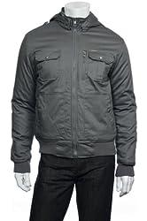 Marc Ecko Cut & Sew Men's Gray Bomber Jacket