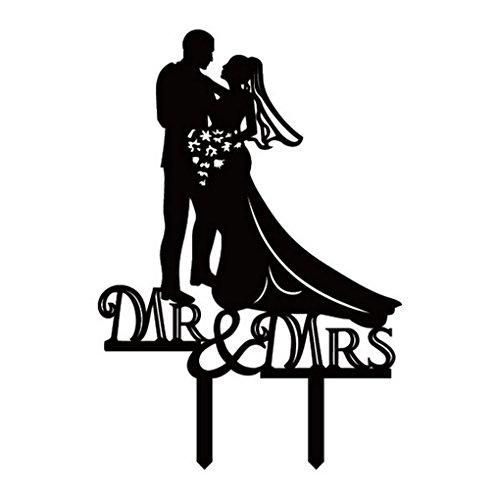 ACME-Figurine-Decoration-de-Gateau-Topper-Mariage-Couple-Silhouette-Moderne-Romantique-Wedding-Cake-Faveur-de-mariage-et-de-la-dcoration