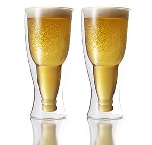 Double-Wall Glass Beer Pilsner 390ml Set Of 2