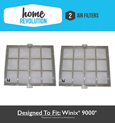 2 Winix 9000 Home Revolution Brand Replacement Air Purifier Filter & Casing, Compare to Part # 119010