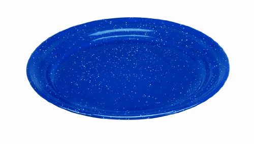 Cinsa 311352 Camp Ware Dinner Plate, 8-1/2-Inch, Royal Speckled Blue (Enamel Dinner Ware compare prices)