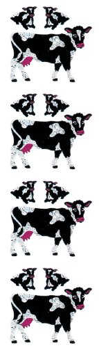 Jillson Roberts Prismatic Stickers, Mini Cows and Calves, 12-Sheet Count (S7101)