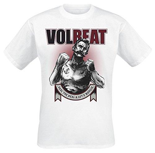 Volbeat Boxer Ribbon T-Shirt bianco XXL