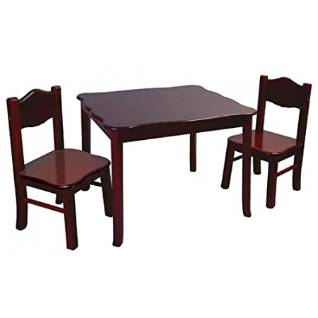 Rosenberry Rooms Classic Espresso Table and Chairs Set