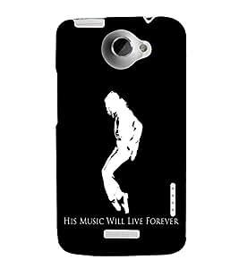 EPICCASE MJ Forever Mobile Back Case Cover For HTC One X (Designer Case)