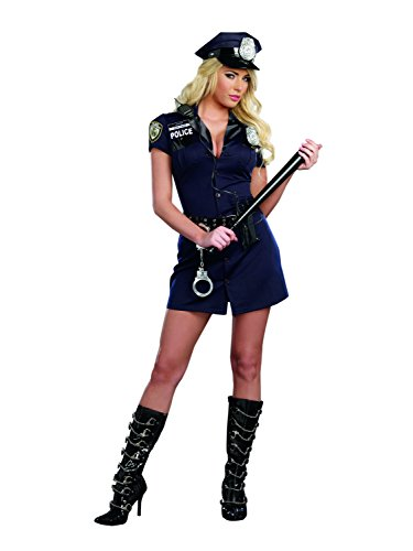 Dreamgirl Women's Police Cop Uniform Costume, Officer Randi Stop Sign