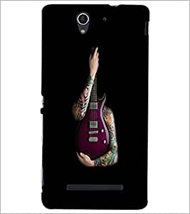 PrintDhaba Guitar D-5531 Back Case Cover for SONY XPERIA C3 (Multi-Coloured)