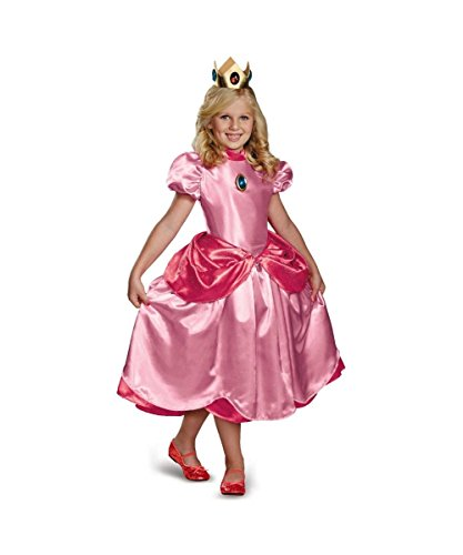 Super Mario Brothers Princess Peach Girls Costume deluxe