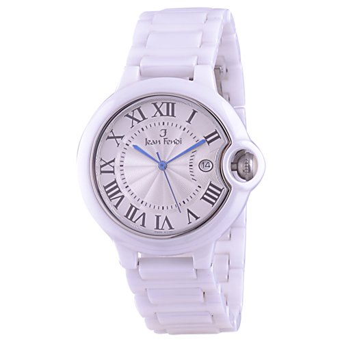 Jean Fendi Jean Fendi White Ceramic Case And Chain With Date Function Men's Watch