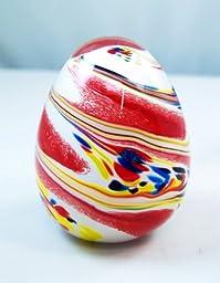 M Design Art Handcraft Colorful Sandy Texture Egg Paperweight PW-745 [Kitchen]