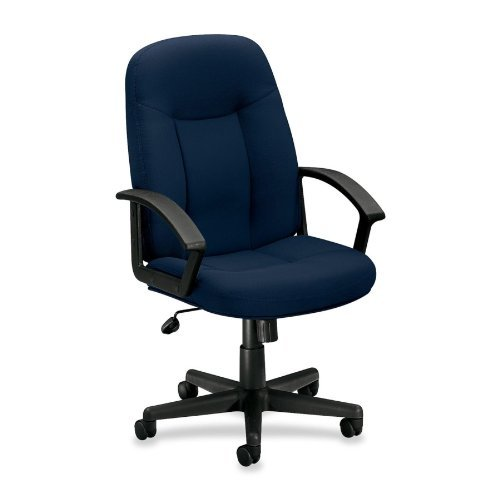 Basyx by HON - Managerial Mid Back Chair 26x33-1/2x43 Navy Sold as 1 Each BSX VL601VA90 by basyx by HON