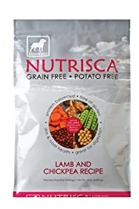 Dogswell Nutrisca Dog Food, Lamb and Chickpea, 15-Pound Package