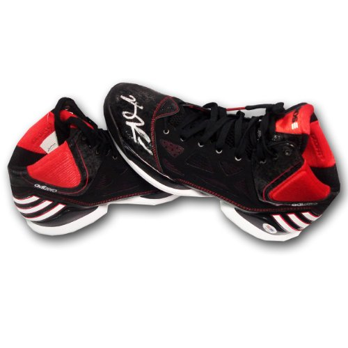 Derek Rose Autographed Adidas Pair Of Shoes With One Shoe Signed