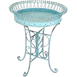 """Large Metal Planter With Stand 24""""x28"""""""