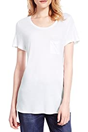 M&S Collection Scoop Neck T-Shirt [T41-3942C-S]
