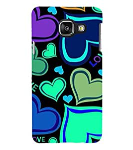 PRINTSHOPPII HEARTS Back Case Cover for Samsung Galaxy A7 (2016) Duos