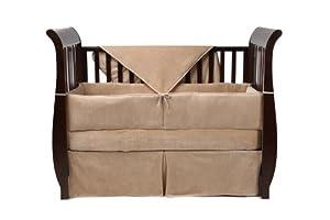 American Baby Company Organic Cotton 4-Piece Crib Set, Mocha