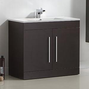 900 mm Wenge Basin Vanity Unit Floor Standing Bathroom ...