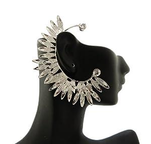 New & Trendy Silver Leafed Women's Ear Cuff HE1578RDCLR