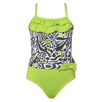 Amazon Toddler Girls 3T Neon Green Black Print 2pc UV #0: 41fFju5CqAL SX342