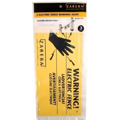 Woodstream Zareba 680828 Zareba Electric Fence Warning Signs 3 Pack