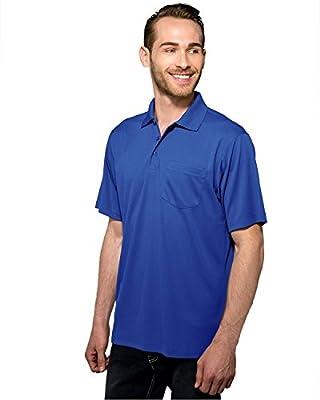 Tri-Mountain Performance K020P Mens 100% Polyester Knit Golf shirt