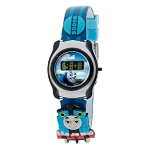 Thomas The Tank Engine and Friends Kids LCD Digital Watch With Slide On Characters
