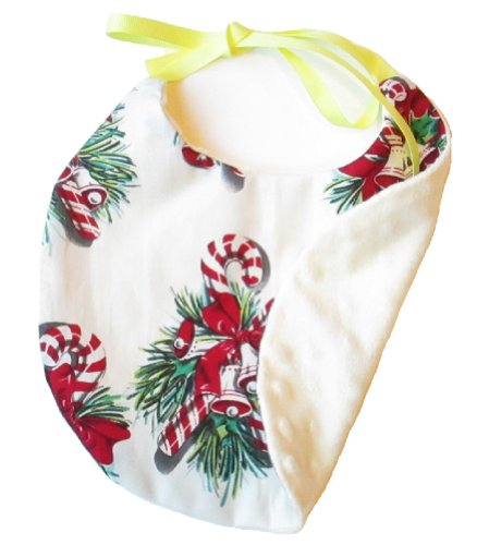 Vtshop Girl'S/Boy'S Bibs 10X10 Wreath And Soft Off_White Terry Fabric On Other Side front-310104