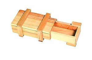 Geschenkbox mit Trickverschluss aus Holz