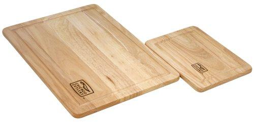 Chicago Cutlery 2-Piece Woodworks Rubberwood Set