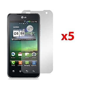 LG G2X P999 T-MOBILE SCREEN PROTECTORS - 5 PACK