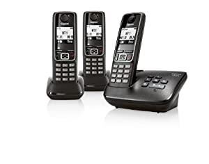 Gigaset A420A Trio DECT Cordless Phone with Answer Machine - Black
