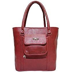Frenchxd Farah Miller Fancy Stylish Handbag For Women (Maroon)
