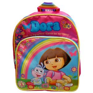 Dora the Explorer Small Pink Kids Backpack with Purple Backpack Pouch Picture