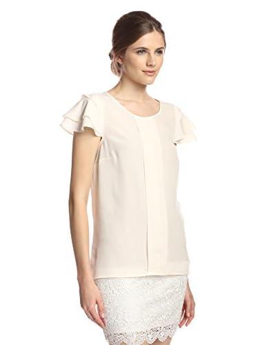 Kensie Women's Scalloped Sleeve Top
