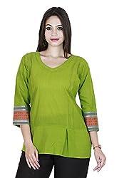 Eessence Women's Cotton Kurta (SCK08_MGR_XL, Green, XL)