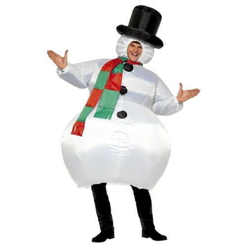 Inflatable Snowman Adult Costume